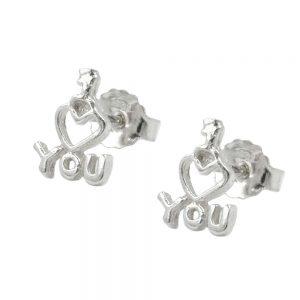 Boucles oreilles pendantes je taime argent 925 Krossin bijoux en argent 92780xx