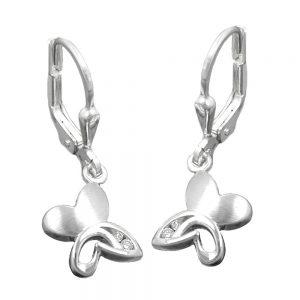 Boucles oreilles pendantes papillon argent 925 Krossin bijoux en argent 91333xx