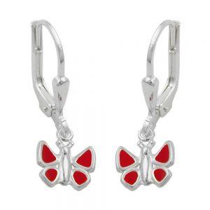 Boucles oreilles pendantes papillon argent 925 Krossin bijoux en argent 93176xx
