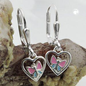 Boucles oreilles pendantes papillon argent 925 Krossin bijoux en argent 93466x