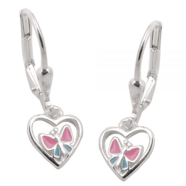 Boucles oreilles pendantes papillon argent 925 Krossin bijoux en argent 93466xx