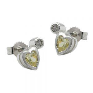 Boucles oreilles pendantes peridot vert clair argent 925 Krossin bijoux en argent 92328xx