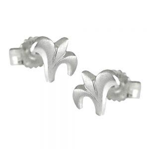 Boucles oreilles pendantes petite fleur argent 925 Krossin bijoux en argent 91936xx