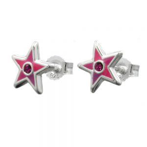 Boucles oreilles pendantes petites etoiles argent 925 Krossin bijoux en argent 93341xx