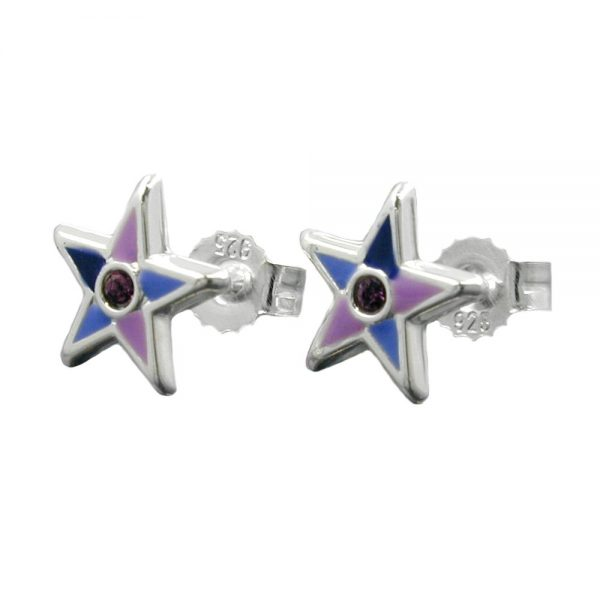 Boucles oreilles pendantes petites etoiles argent 925 Krossin bijoux en argent 93342xx