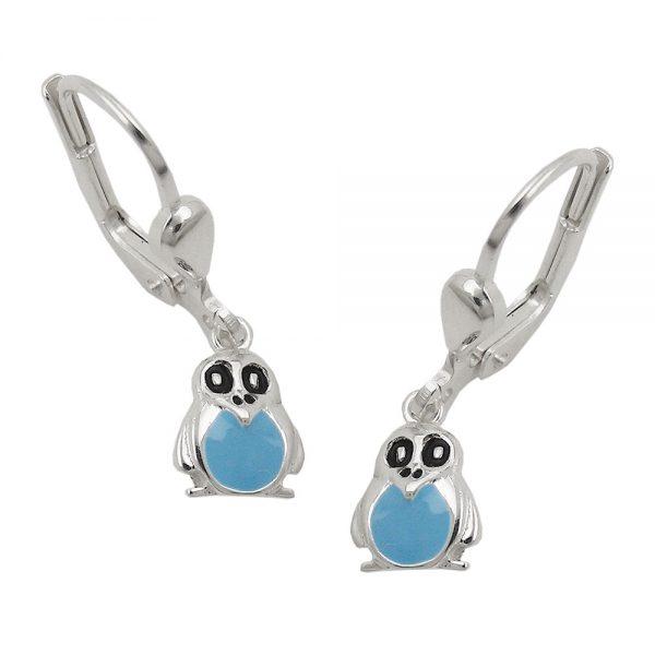 Boucles oreilles pendantes pingouin argent 925 Krossin bijoux en argent 93633xx