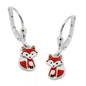 Boucles oreilles pendantes renard argent 925 Krossin bijoux en argent 93660xx