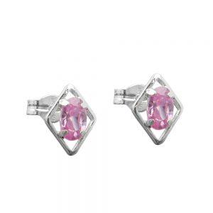 Boucles oreilles pendantes rose Zircon argent 925 Krossin bijoux en argent 91531xx