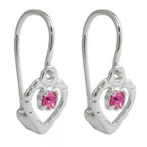 Boucles oreilles pendantes rose argent 925 Krossin bijoux en argent 90345xx