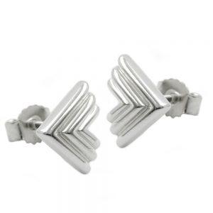 Boucles oreilles pendantes triangle argent 925 Krossin bijoux en argent 91898xx
