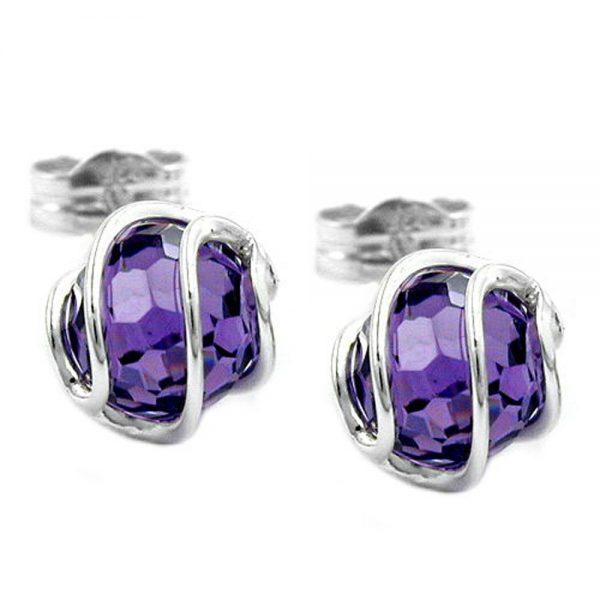 Boucles oreilles perle amethyste argent 925 Krossin bijoux en argent 93244xx