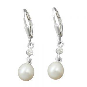 Boucles oreilles  perle argent 925 Krossin bijoux en argent 91407xx