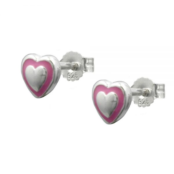 Boucles oreilles petit coeur argent 925 Krossin bijoux en argent 93340xx
