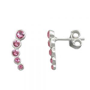 Boucles oreilles  rose argent 925 Krossin bijoux en argent 93646xx