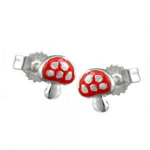 Boucles oreilles rouge argent 925 Krossin bijoux en argent 90486xx