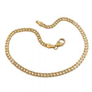 Bracelet 19cm double gourmette en or 14 carats 503003 19xx