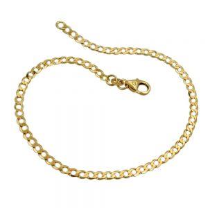 Bracelet 19cm ouvert bordure 14k or 502004 19xx