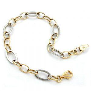 Bracelet ancre chaine ovale 9k or 19cm 511010 19xx
