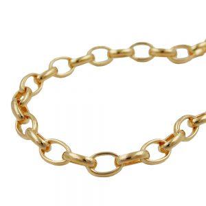 Bracelet ancre chaine ovale plaque or 19cm 211000 19xx