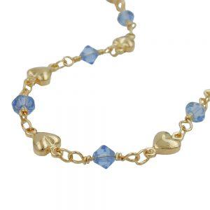 Bracelet  bleu perles or 230036 19xx