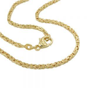 Bracelet byzantin 2x2mm 19cm or 14 carats 537001 19xx