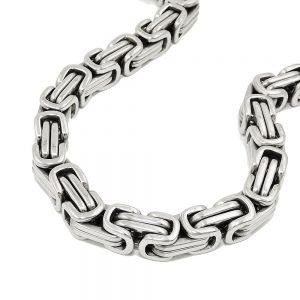 Bracelet byzantine chaine en acier inoxydable 03360 21xx