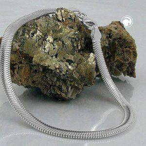 Bracelet chaine serpent plat argent 925 Krossin bijoux en argent 19cm 120002 19x