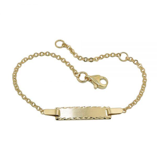 Bracelet d identification diamant taille 9k or 535004 15xx