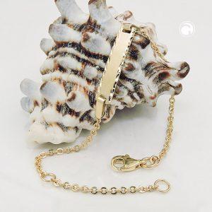 Bracelet d identification diamant taille 9k or Krossin bijoux or 535004x