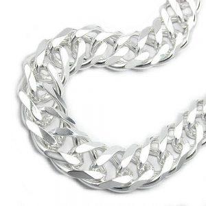 Bracelet double chaine  argent 925 Krossin bijoux en argent 21cm 103007 21xx