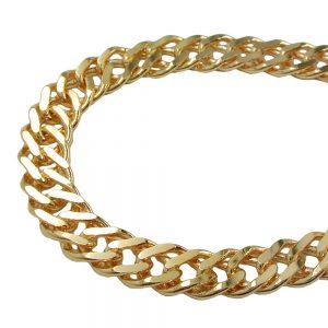 Bracelet double chaine plaque or 203002 19xx