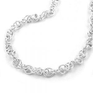 Bracelet fantaisie chaine argent 925 Krossin bijoux en argent 19cm 130000 19xx