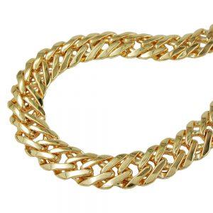 Bracelet fantaisie chaine plaque or 19cm 230015 19xx