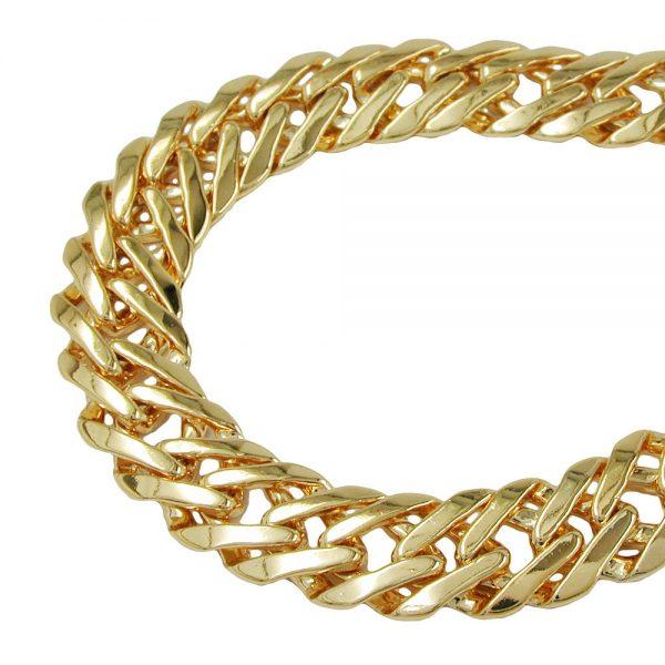 Bracelet fantaisie chaine plaque or 230007 17xx