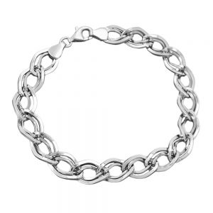 Bracelet fantaisie motif argent 925 Krossin bijoux en argent 19cm 133023 19xx