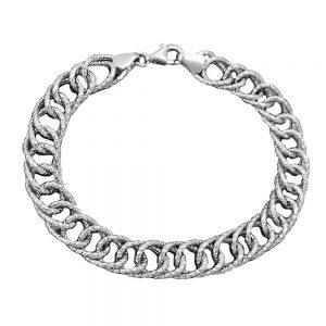 Bracelet fantaisie motif argent 925 Krossin bijoux en argent 19cm 133024 19xx
