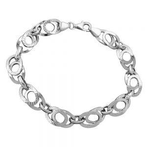 Bracelet fantaisie motif argent 925 Krossin bijoux en argent 19cm 133025 19xx