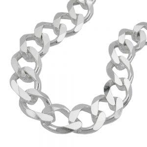 Bracelet gourmette ouverte 11mm 925 Krossin bijoux en argent argent massif 23cm 102018 23xx