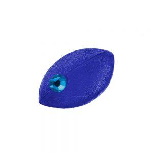 Broche ovale souris forme bleue avec strass 00106xx