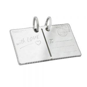 Carte postale pendentif avec amour argent 925 Krossin bijoux en argent 90650xx