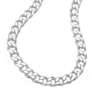 Chaîne gourmette en diamant taille en argent 925 Krossin bijoux en argent 55cm 102012 55xx