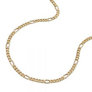 Chaine Figaro diamantee en plaque or 213531 50xx