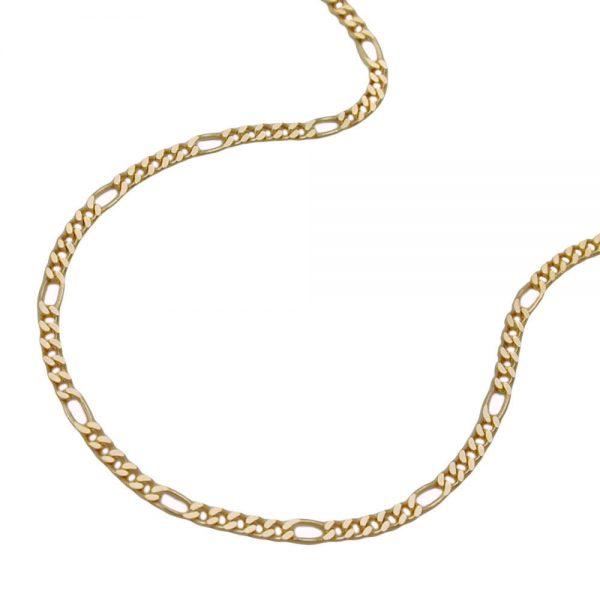 Chaine Figaro diamantee en plaque or 213531 60xx
