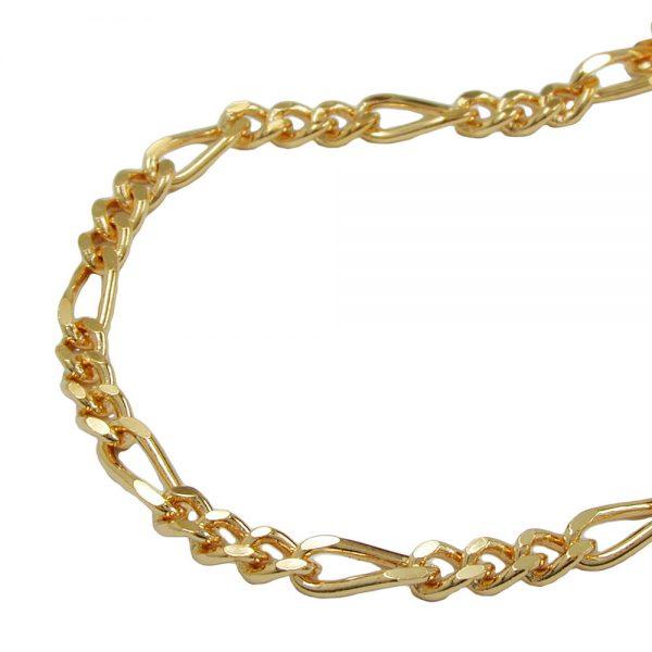 Chaine Figaro diamantee en plaque or 213831 50xx