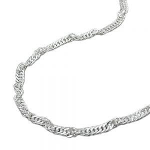 Chaine Singapour diamant Taille argent 925 Krossin bijoux en argent 45cm 144350 45xx