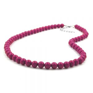 Chaine avec des perles violettes 8mm 60cm 01493 60xx