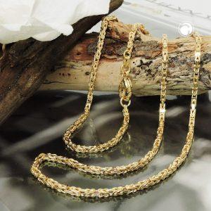 Chaine byzantine 2x2mm 50cm 14k or Krossin bijoux or 537001x