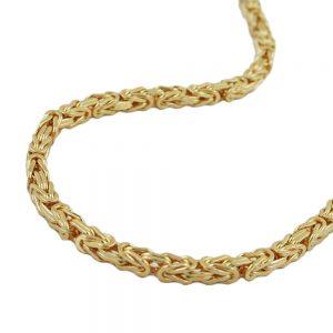 Chaine byzantine 50cm or 14 carats 537002 50xx