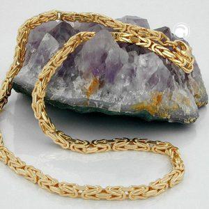 Chaine byzantine 50cm or 14 carats Krossin bijoux or 537002x