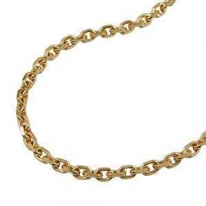 Chaine d ancre diamantee en plaque or 211001 45xx